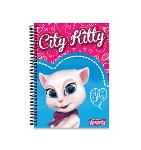 Slika za produkt Blok s spiralo A4 karo 5mm Talking Angela City Kitty                                                .