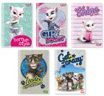 Slika za produkt Zvezek A4 Talking Tom and friends1, karo 5x5 mm, 40L, sortiranih motivov                            .