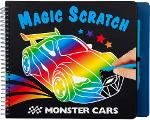 Slika za produkt Pobarvanka - praskanka Monster Cars Magic, 10928                                                    .